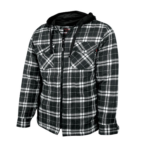 Quilt-Lined Flannel Shirt with Hood