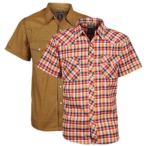 Casual Country Men's Western Shirt - 2 Pack