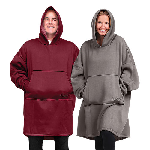 The Comfy Hoodie Wearable Blanket - 2 Pack