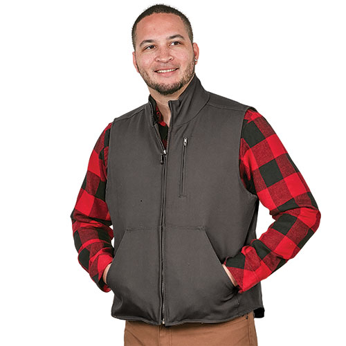 Casual Country Charcoal Canvas Work Vest
