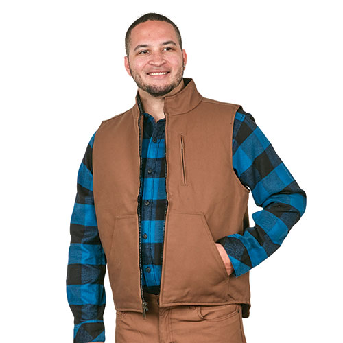 Casual Country Brown Canvas Work Vest