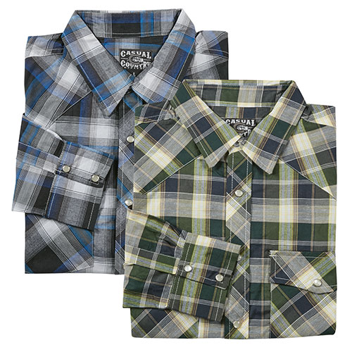 Casual Country Men's Western Shirts - 2 Pack