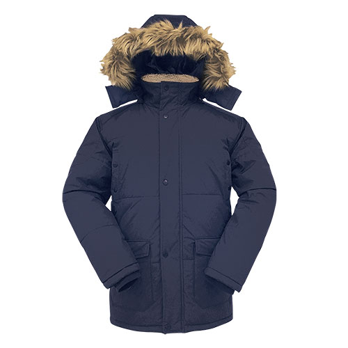 Truppa Men's Faux Fur Hooded Parka - Navy