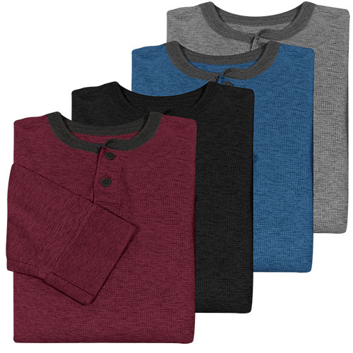Fourcast Thermal Henley Shirt - 4 Pack