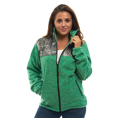 Trailcrest Women's Mossy Oak Full-Zip Fleece