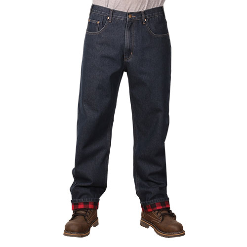 Outback Rider Flannel-Lined Jeans - 2 Pack