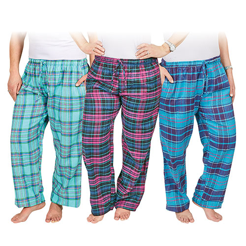 Casual Country Women's Flannel Pants - 3 Pack