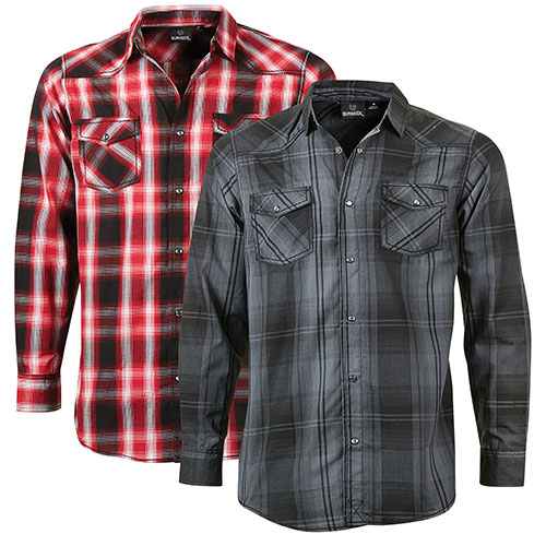 Burnside Men's Plaid Shirts - 2 Pack