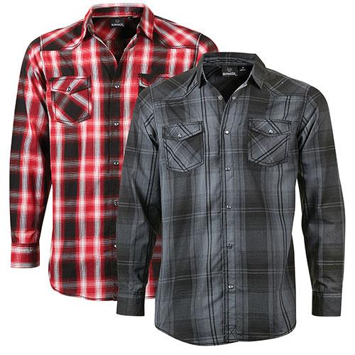 Burnside Men's Plaid Shirts - 2 Pack