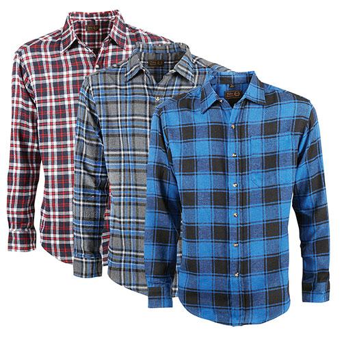 Victory Sportswear Men's Flannel Shirts - 3 Pack