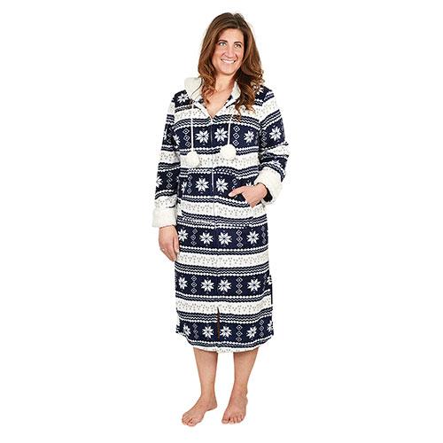 Trailcrest Navy Women's Zippered Fleece Lounger