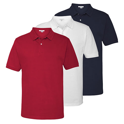 FeatherLite Men's Cotton Polos - 3 Pack
