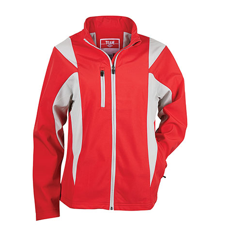 Team 365 Women's Red Soft-Shell Jacket