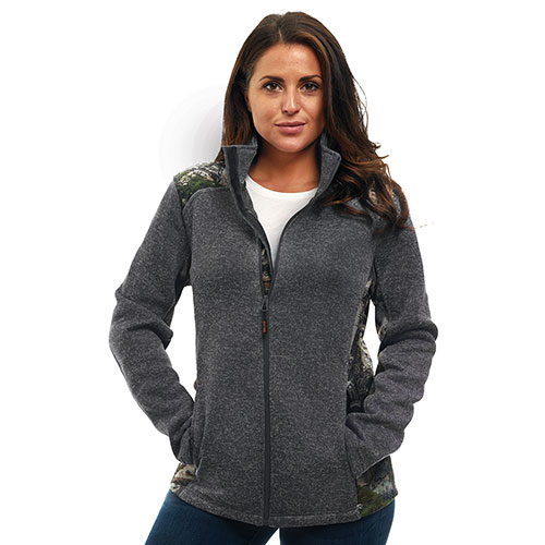 Trailcrest Grey Mossy Oak Women's Zip-Up