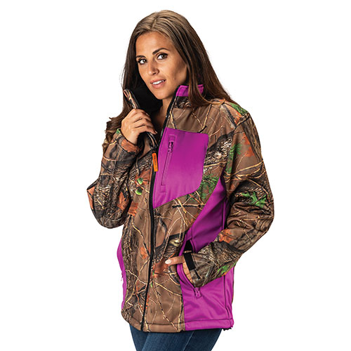 Trailcrest Women's Purple Camo Waterproof Jacket