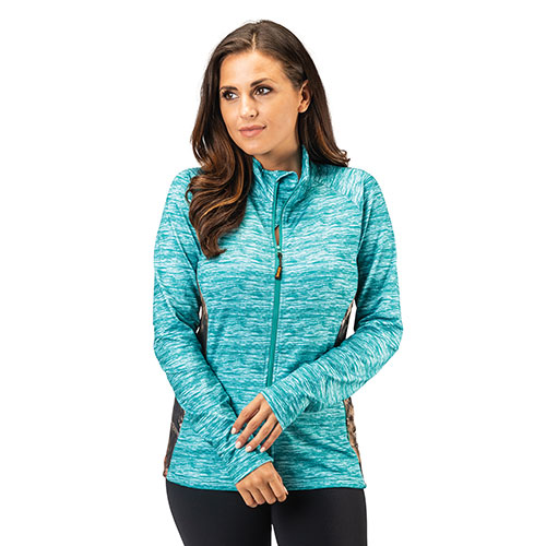 Trailcrest Women's Mossy Oak Performance Top - Turquoise