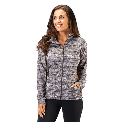 Trailcrest Women's Mossy Oak Performance Top - Grey