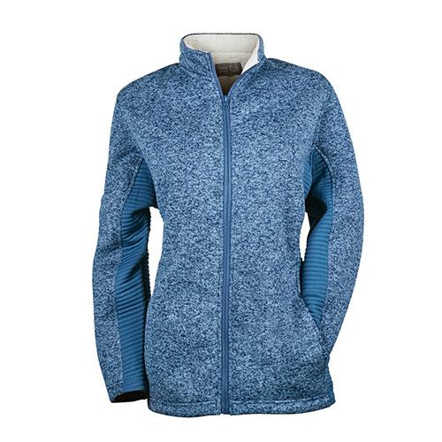 Victory Sportswear Women's Sherpa Zip Jacket - Blue