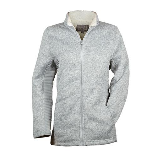 Victory Sportswear Women's Sherpa Zip Jacket - Grey
