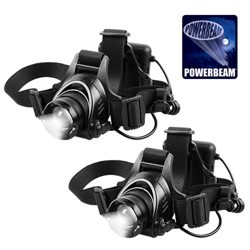 Powerbeam 800 Lumen Head Lamps - 2 Pack