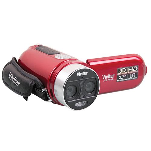 Red Vivitar 3D Camera