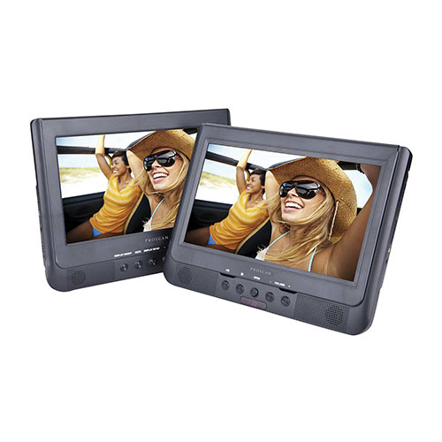 Proscan 10.1 inch Dual-Screen Portable DVD Player