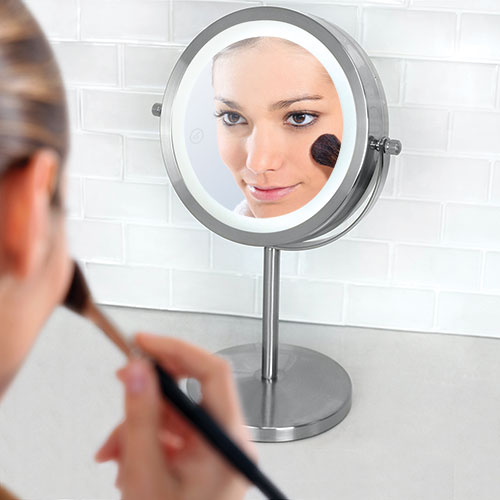 Home Basics Cosmetic Mirror with LED Light
