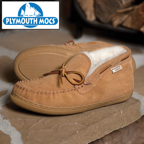 Plymouth Mocs Mens Chukka Slippers