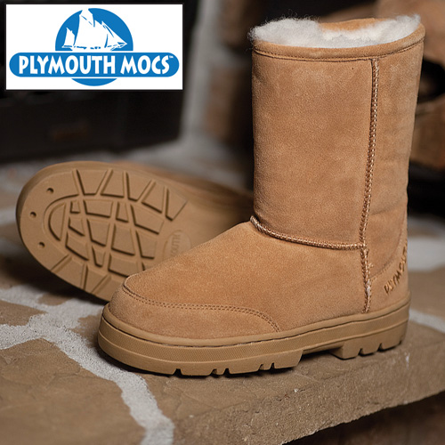 Plymouth Mocs Mens Boot Slippers