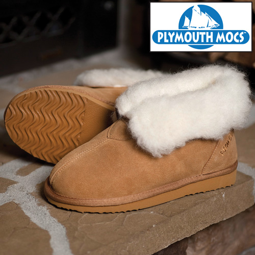 Plymouth Mocs Womens Ankle Boot Slippers