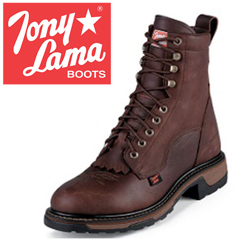 Tony Lama Briar Lace-Up Boots