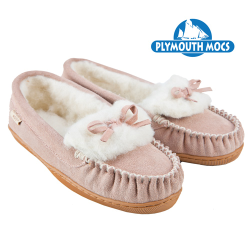 Pink Leather Moccasins