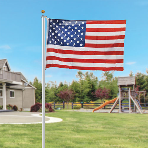 Zeny 25 foot American Flag Kit