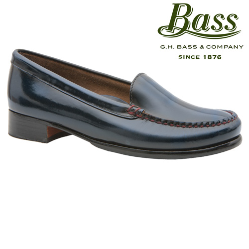 Bass Womens Madison Loafers - Blue