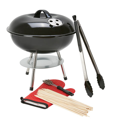 5 Piece Kettle Grill Set