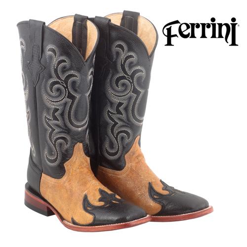 Ferrini Lizard Wingtip Womens Western Boots