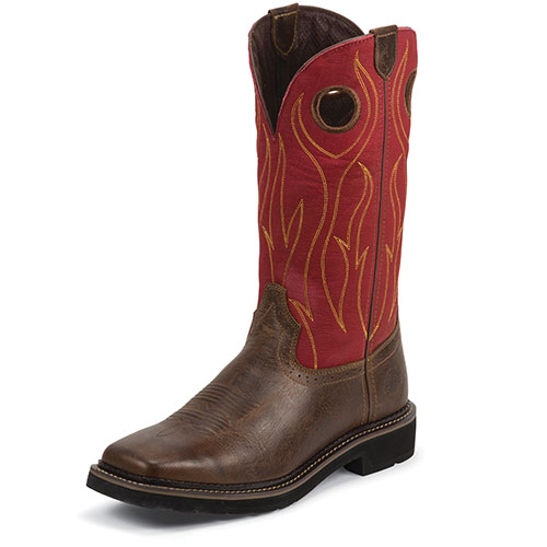 Justin Rustin Men's Brown Barnwood Boots