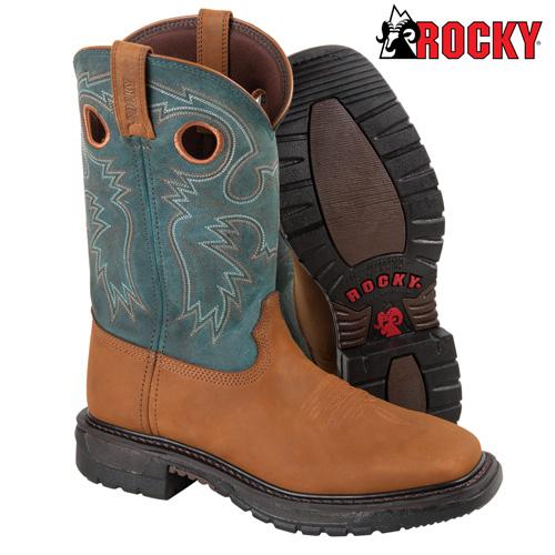 Blue Rocky Western Boots
