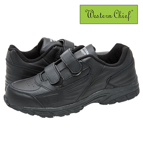 Black Western Chief Strap Athletic Shoes