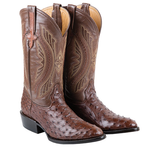 Ferrini Full Quill Ostritch Boot