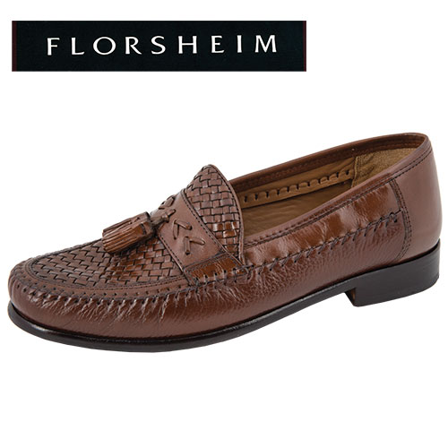 Swivel Weave Tassel Loafers