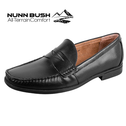 Nunn Bush Penny Loafers - Black