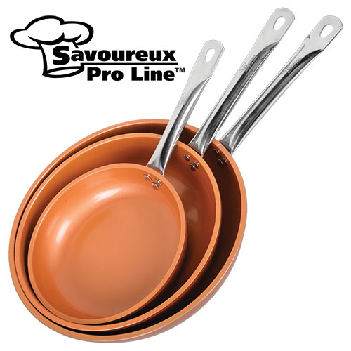 Blemished Copper Ceramic Frying Pan Set