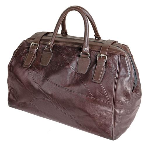 Lambskin Weekend Bag - Brown
