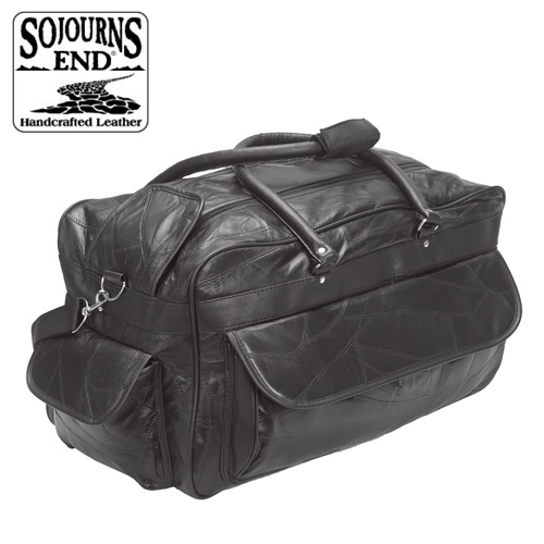 Open Box Lambskin Duffle - Black