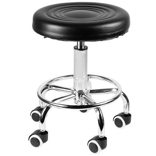 Open Box Pneumatic Rolling Bar Stool