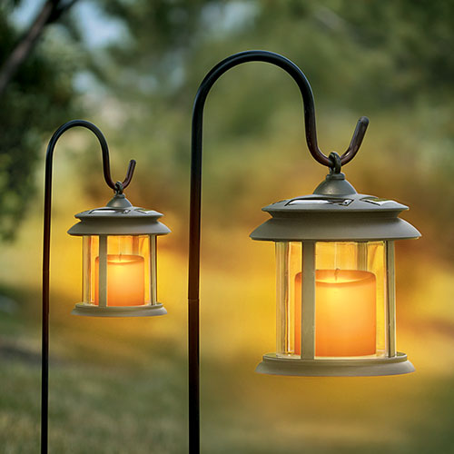 Open Box Flicker Candle Solar Lights