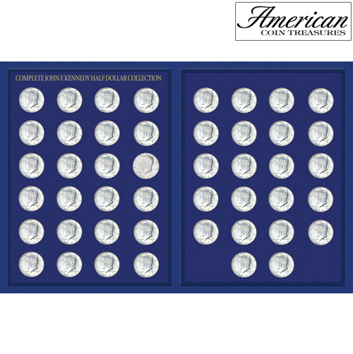 JFK Half Dollar Collection in Deluxe Portfolio