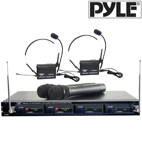 4 Mic VHF Wireless Rack Mount