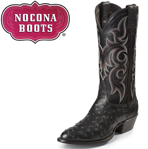 Black Full Quill Ostrich Boots
